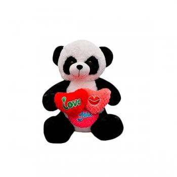Oso Panda 3 Corazones