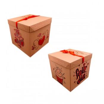 Caja Square Kraft *1