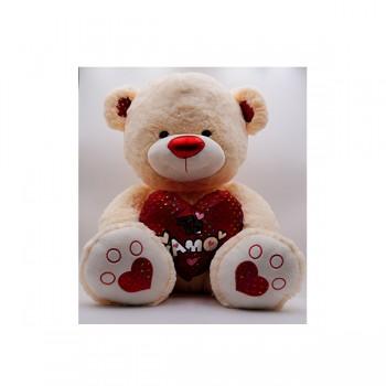 Oso Corazón Rojo 60cm